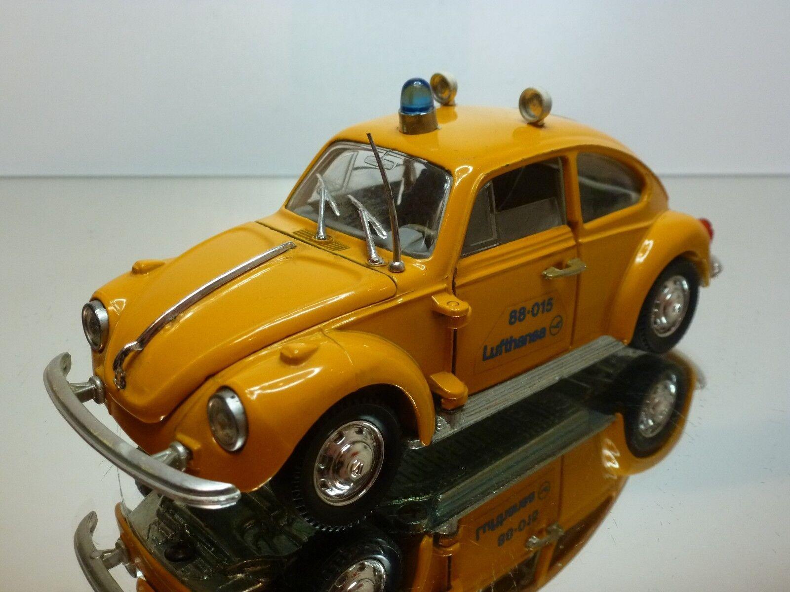 POLISTIL S15 S44 VW VOLKSWAGEN BEETLE LUFTHANSA - giallo 1:25 - GOOD CONDITION
