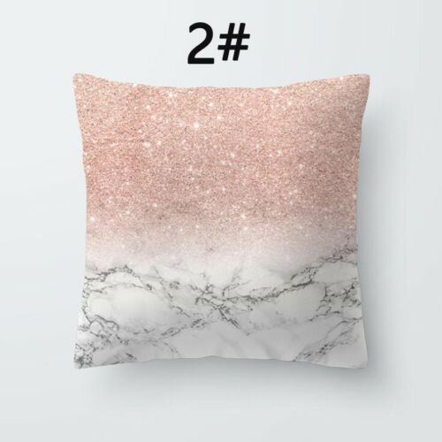 Bohemian /& Moroccan Geometric Cotton Pillow Case Square Cushion Cover Rose Gold