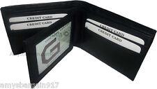 Man's wallet. Lambskin Genuine Leather wallet, 3 billfolds ID 6 cards slots BN.