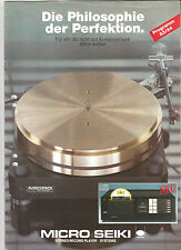 MICRO SEIKI Gesamtprogramm 83/84 CD M1 RX 5000 1500 D VG RY 5500 1500 D u.a. TOP