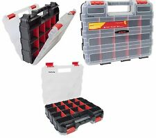 34 Section Professional Tool Organiser Box Screws Nails Storage Carry Case Box