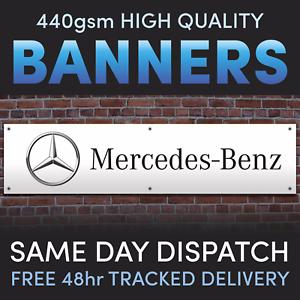 Garage MERCEDES-BENZ Cars Man Shed Cave Workshop PCV Vinyl Banner Full colour