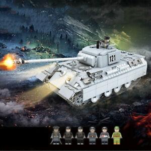 990pcs-Panzerkampfwagen-V-Panther-Modell-mit-Soldat-Figuren-Bausteine-Spielzeug