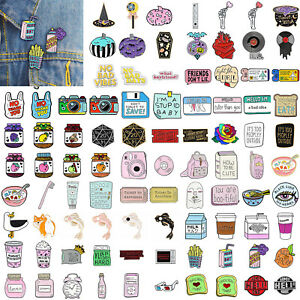 Cartoon-Enamel-Piercing-Brooch-Pin-Collar-Decor-Badge-Corsage-Jewelry-Women-Gift