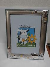 Cornice portafoto argento silver frame Valenti & Co 13x18 bambino bimbo