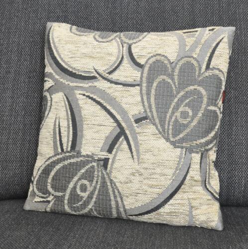 #10460 Noble funda de almohada cojín 40x40 ornament gris crema landhaus Germany noble