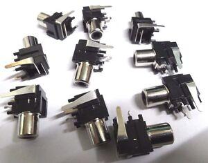 100-angle-droit-PCB-Mount-Phono-RCA-Prises