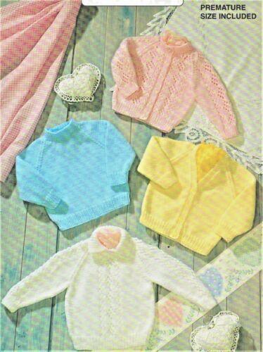 "106 DK Cardi /& Jumpers Knitting Pattern Only Baby Girls//Boys 14-22/"" 35 /& 56cm"
