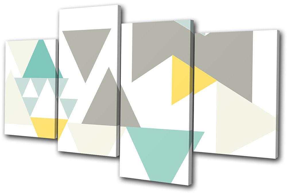 Abstract Geometric Triangles MULTI Leinwand Wand Kunst Bild drucken