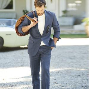Samuel-Windsor-2-Piece-Linen-Suit-Mens-Summer-Light-Jacket-Trousers-Blazer