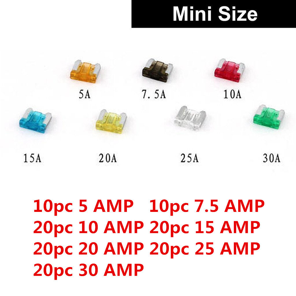 2amp 5amp 10 amp Mini 5mmx20mm Glass Radio Fuse Car Boat Wire Cable Electrical