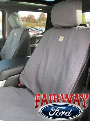 15 Thru 19 F 150 Genuine Ford Carhartt Front Captain Chair Seat Covers Gravel Ebay