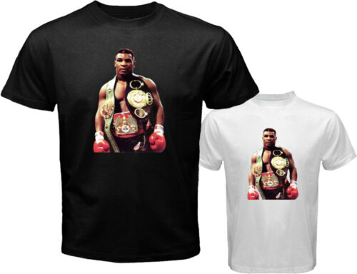 """New MIKE TYSON /""""Iron Mike/"""" Boxing Legend Men/'s White Black T-Shirt Size S to 3XL"""