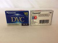 2 Mini Dv Tapes - Panasonic Dvc Sp 60min Lp 90min