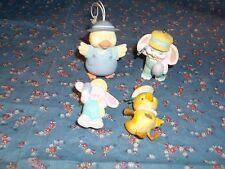 4 Easter Ornaments 1 Anri Chick Orange Spot on Hat 3 Hallmark Ornaments