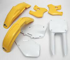 RM 125 250 1996 - 1998 Super EVO Motocross MX UFO Plastic Kit OEM colours Yellow