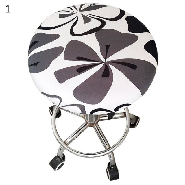1pc Round Chair Cover Bar Stool Cover Elastic Seat Cover Home Chair Slipcov Tu