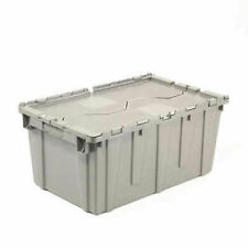 Plastic Attached Lid Shipping Amp Storage Container 25 14x16 14x13 34 Gray