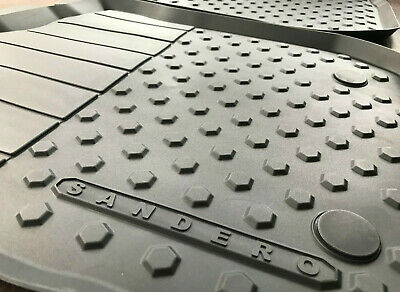 Für Dacia Sandero 2008-2012 Gummi Fußmatten Hohe 3D Gummimatten Automatten