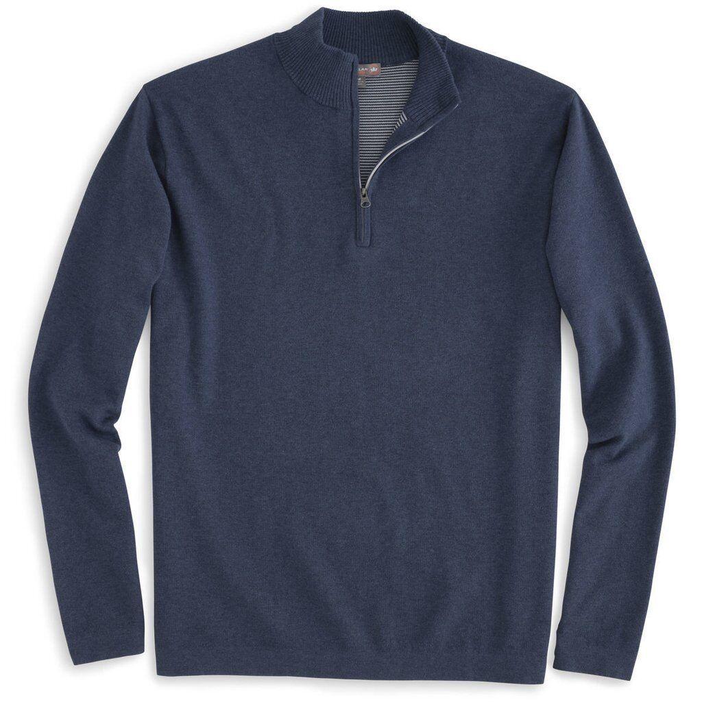 Peter Millar Men's Midnight Salisbury Cotton Poly 1 4 ZIP NAVY  GREAT GIFT