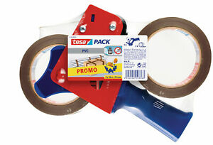 tesa-Packband-Abroller-Handabroller-ink-2-Rollen-Paketband-starkes-Klebeband