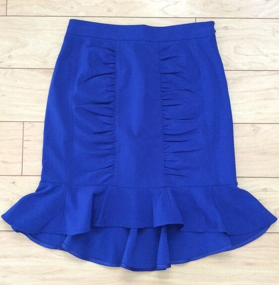 HD in Paris Ruched Pencil Skirt Various Sizes bluee color NW ANTHROPOLOGIE Tag