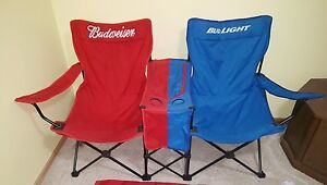 Image Is Loading RARE BUD LIGHT BUDWEISER FOLDING LAWN BEACH CHAIR