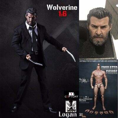 Custom 1//6 Scale Clawed Relax Palm for Wolverine Logan 12/'/' figure body