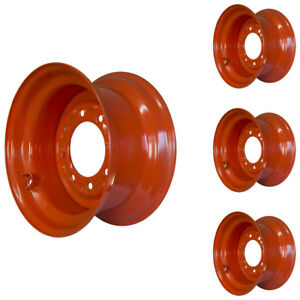 Details about Set of 4 - 8 Lug Kubota SSV75 Skid Steer Wheels, 9 75x16 5,  Fit 12x16 5 Tires