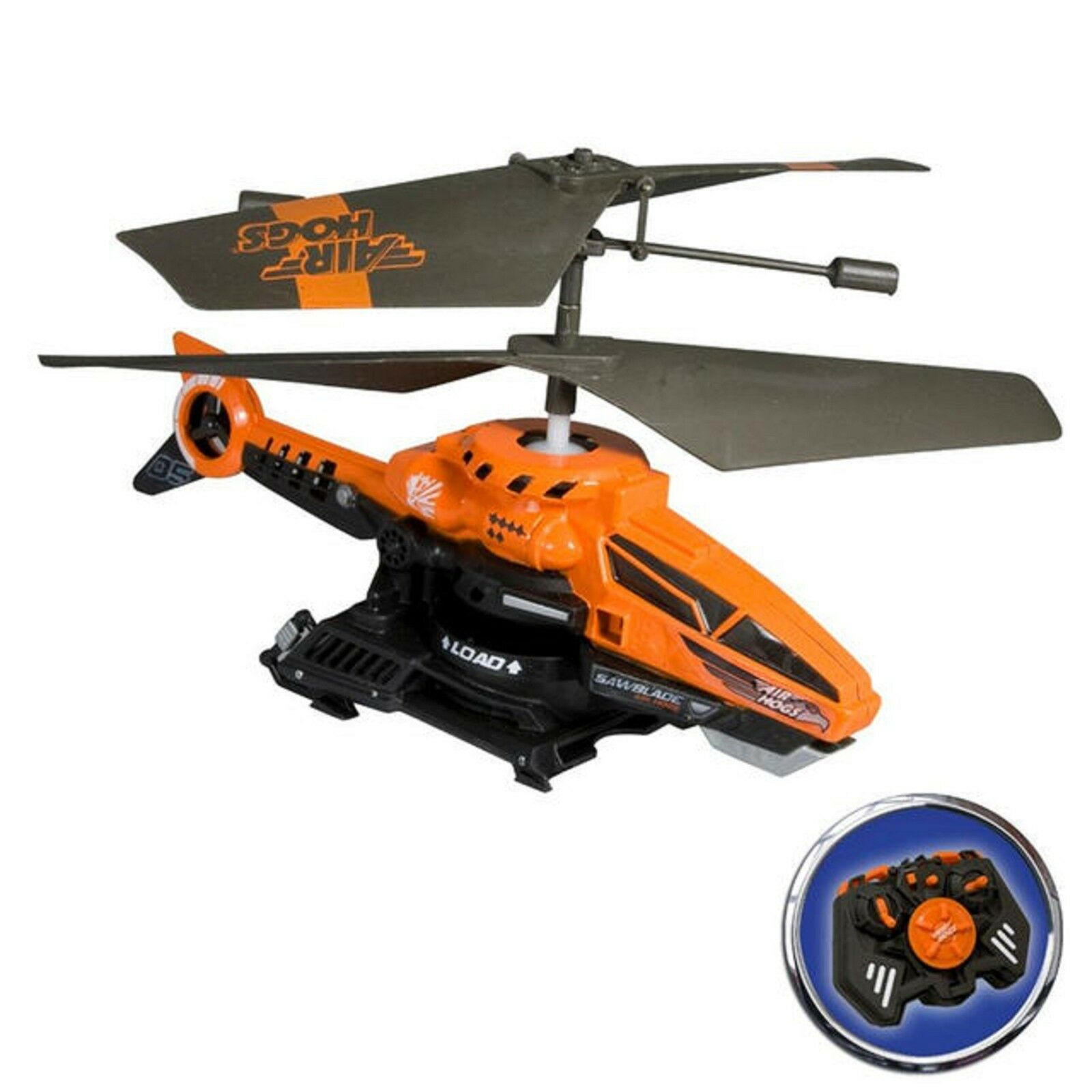 Air Hogs Saw Blade Remote Control Disk Firing Helicopter orange 8+ Toy Plane Fun