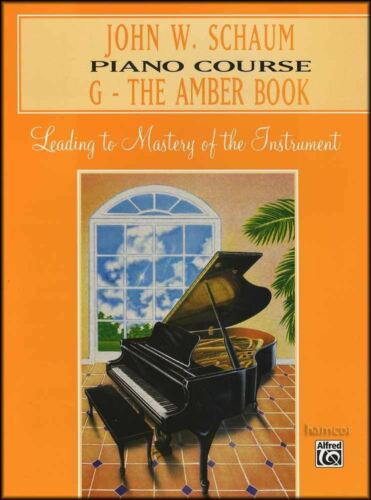 The Amber Book Book Music Book Learn To Play Schaum Piano Course G John W