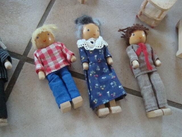 Riesiges SELECTA SELECTA SELECTA Puppenhaus + Zubehör Einrichtung Puppen Konvolut über 60 Teile  | Schöne Farbe  102946