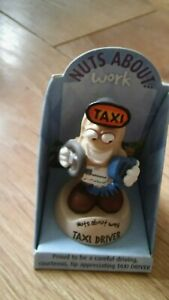 NUTS-ABOUT-WORK-Taxi-Driver-Character-Figure-on-Spring-Collectable-FREEPOST