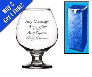 Engraved Crystal Brandy Glass