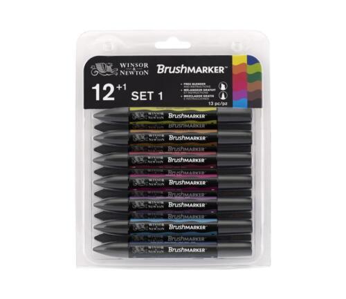 Winsor /& Newton graphic artists BRUSHMARKER PEN SETS drawing colour tip Letraset