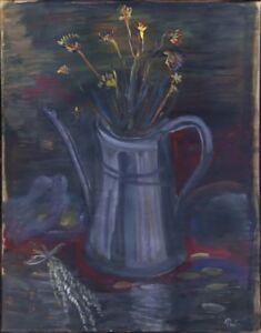 Russischer-Realist-Expressionist-Ol-Leinwand-034-Strauss-034-66-x-52-cm