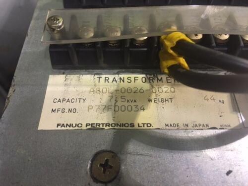 Warranty A80L-0026-0020 Fanuc 7.5 KVA Robotics Transformer Used