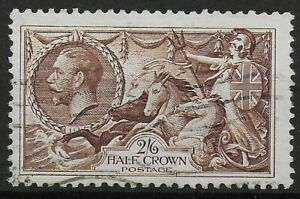 SG450-2s6d-Chocolate-Brown-Very-Fine-Used-With-Full-Perfs-Clean-Back-Ref-073
