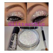 Glitter occhi Grande 10g Irridescant Perla con fissante Gel, Pennellino
