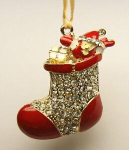 NOVELTY Christmas Tree Ornament Decoration Gold tone ...