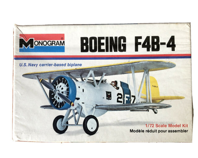 1//72 Monogram 6795 Boeing F4B-4 US NAvt 1930/'s Fighter USS Lexington 1936 Colors