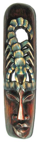 Africaine Masque 50 cm avec de grands Scorpion Wandmaske Bois gravés dekomaske
