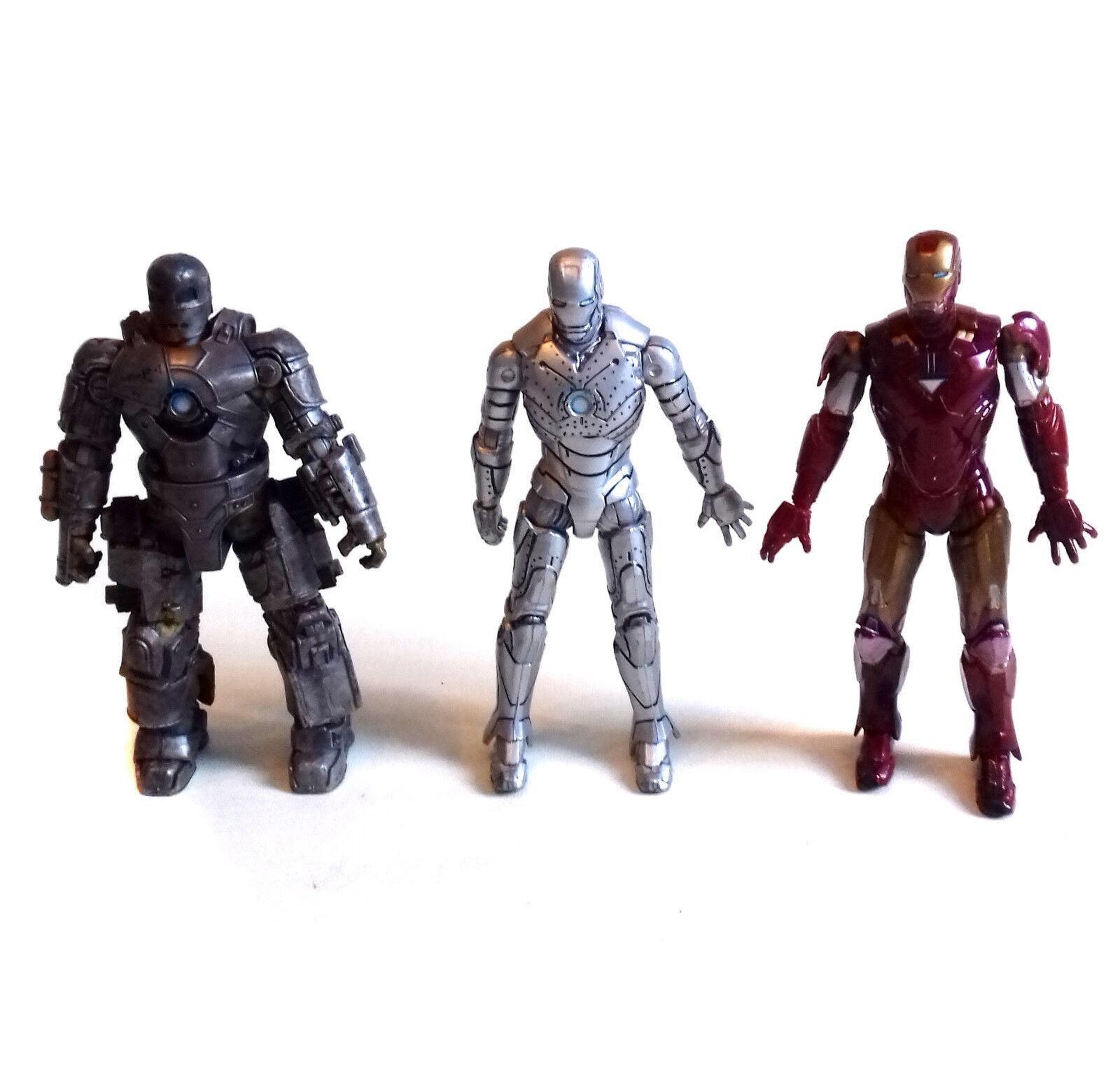 Marvel Comics Legends Movie IRON MAN Evolution Set of 3.75  figures, avengers