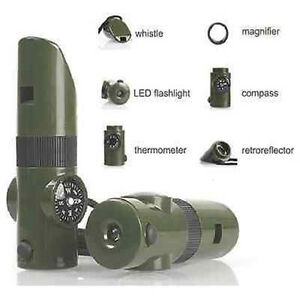 7-in-1-Military-Emergency-Survival-Whistle-Kit-Compass-LED-Light-Thermomet-Tools