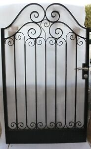Pedestrian-Gate-Wrought-Iron-Adjustable-0-8m-to-0-9m-opening-1-8m-high-In-Stock