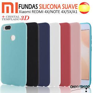FUNDA carcasa Xiaomi Redmi 4X Note 4X Mi A1 5X mi5x de SILICONA Desde España.