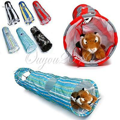 90 130CM Pet Dog Cat Exercise Funny Tunnel Cave Hole Rabbit Ferret Play Toy Ball