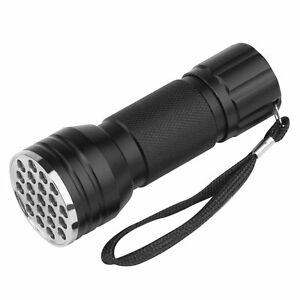 UV Ultra Violet 21 LED Flashlight Mini Blacklight Aluminum Torch Light Lamp NEW