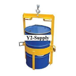 new vestil overhead drum lifter drum lug for 30 55 gallon drums ebay. Black Bedroom Furniture Sets. Home Design Ideas