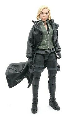S Size Black Faux Leather Trench Coat for SHF Tony Stark No Figure